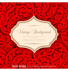 Holiday vintage background vector