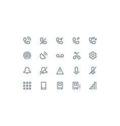 Phone logs icon line vector