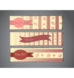 Tree vintage banners vector