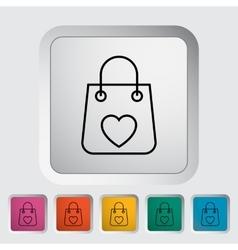 Bag store single icon vector