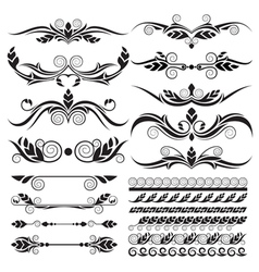 Floral page decoration design elements vector