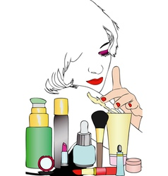 Beauty and body care vector