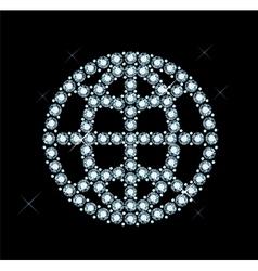 Diamond world icon vector