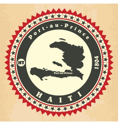 Vintage label-sticker cards of haiti vector