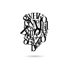Typography man silhouette vector