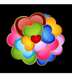 Colorful hearts vector