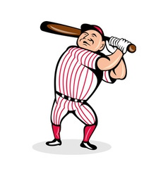 Baseball player swinging a bat vector
