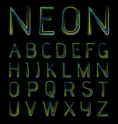 Neon font vector