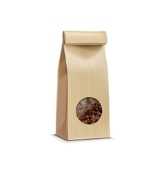 Coffee packaging package bag isolated vector