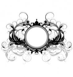 Ornamental shield vector