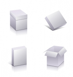 Set of blank packing vector
