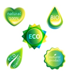 Ecology labels set vector