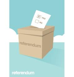 Referendum ballot box vector