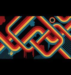 Retro abstract vector
