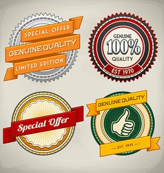Retro label set 4 vector