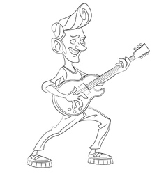 Man with guitar vector