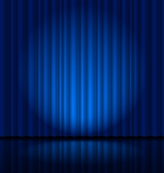 Fragment dark blue stage curtain vector