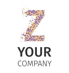 Alphabet particles logotype letter-z vector