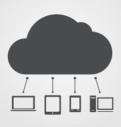 Abstract cloud scheme vector
