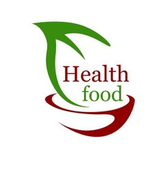 Health vegetarian food icon vector