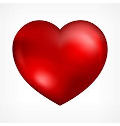 Heart on white vector