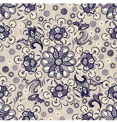 Seamless floral pattern vintage vector