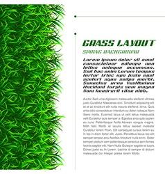 Grass layout vector
