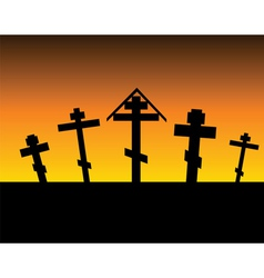 Cemetery night vector