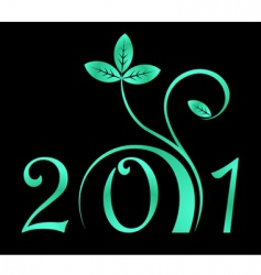 2011 year sign vector