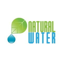 Natural water icon vector