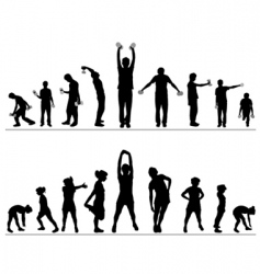 Woman and man fitness vector