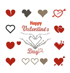 Valentine greeting card with hearts vector