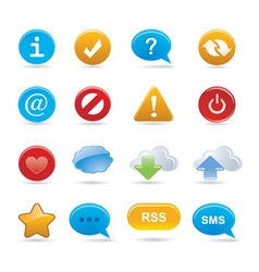 Buttons and signs vector