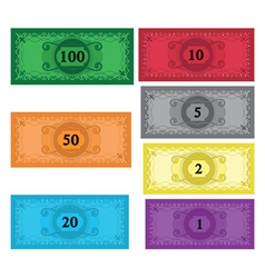 Cartoon set of money vector
