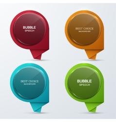 Modern glass bubble speech icons set vector
