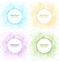 Set of colorful light abstract circles frames vector
