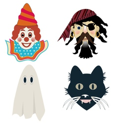 Kids halloween masks vector