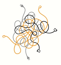 Cable mess vector