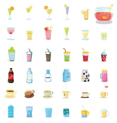 Mixed drinks vector