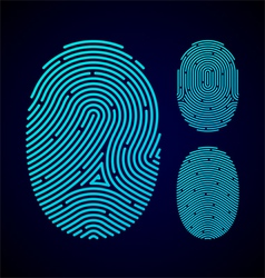 Types of fingerprint patterns vector