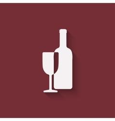 Wine menu design element vector