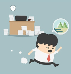 Businessman go vacation vector