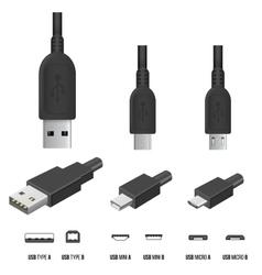 Usb plugs vector