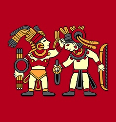 Aztec warriors vector
