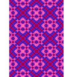 Pink rhombuses on purple checkered seamless backgr vector