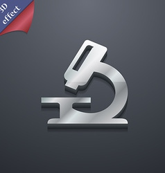 Microscope icon symbol 3d style trendy modern vector