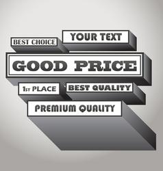 Good price vector