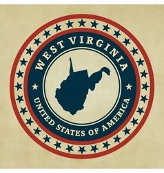 Vintage label west virginia vector