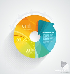 3d infographic can be used for number options vector