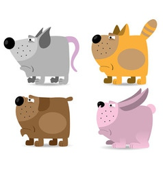 Domestic animals set vector